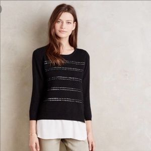 Anthropologie Angel of the North Dovie sweater